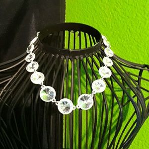 White Crystal Necklace by Ann Taylor